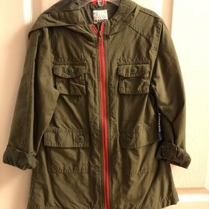 NWT Old Navy Girls Twill Jacket With Hood